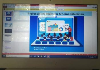 """Professional Ethics for On-line Education"" By Dr.Aung Tun Thet"